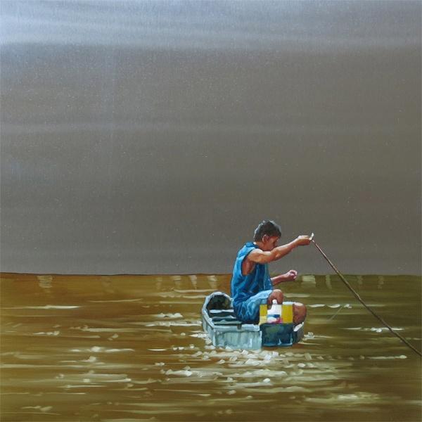 Sair Garcia, Magdalena Series, 2013, oil on steel, 30 x 30 cm.