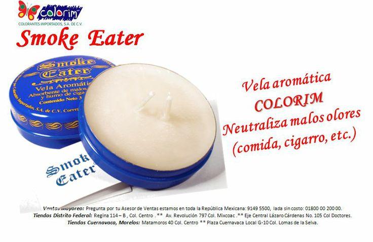 Somoke Eater COLORIM, Vela neutralizadora de aromas.