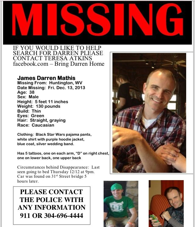 James  - missing person poster template