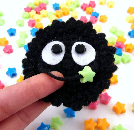 Hey, I found this really awesome Etsy listing at https://www.etsy.com/listing/179434811/soot-sprite-brooch-pin-fantasy-and-fairy