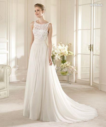 Прямое свадебное платье Australia