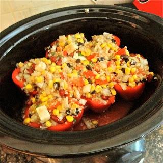 Crockpot Vegetarian Stuffed Peppers