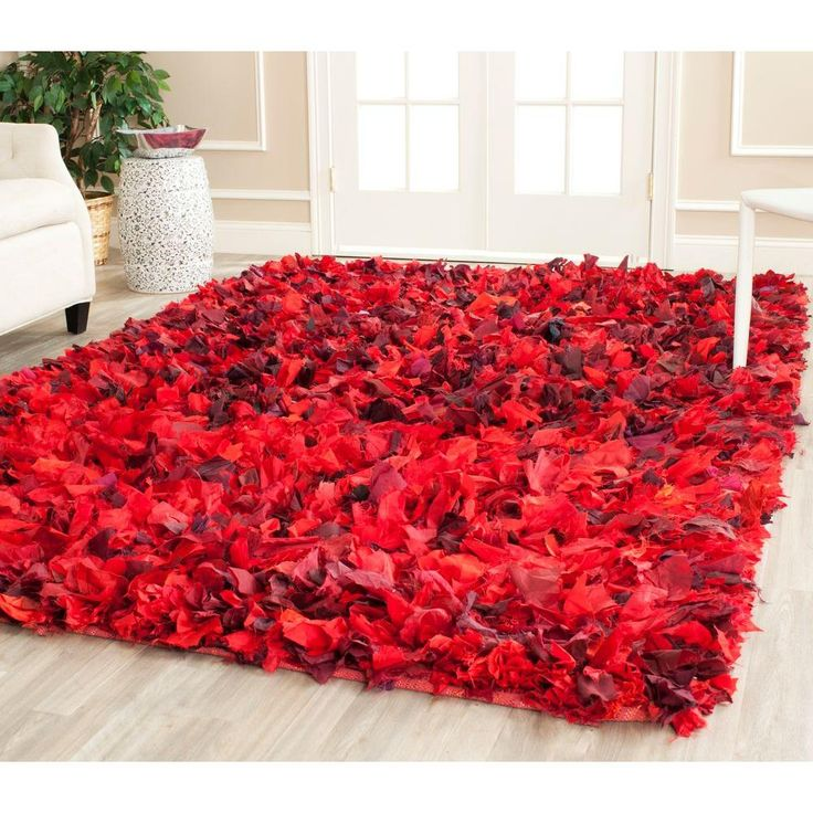 Rio Shag Red/Multi 8 ft. x 10 ft. Area Rug