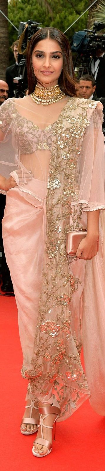 Sonam Kapoor in Anamika Khanna Cannes 2014                                                                                                                                                      More