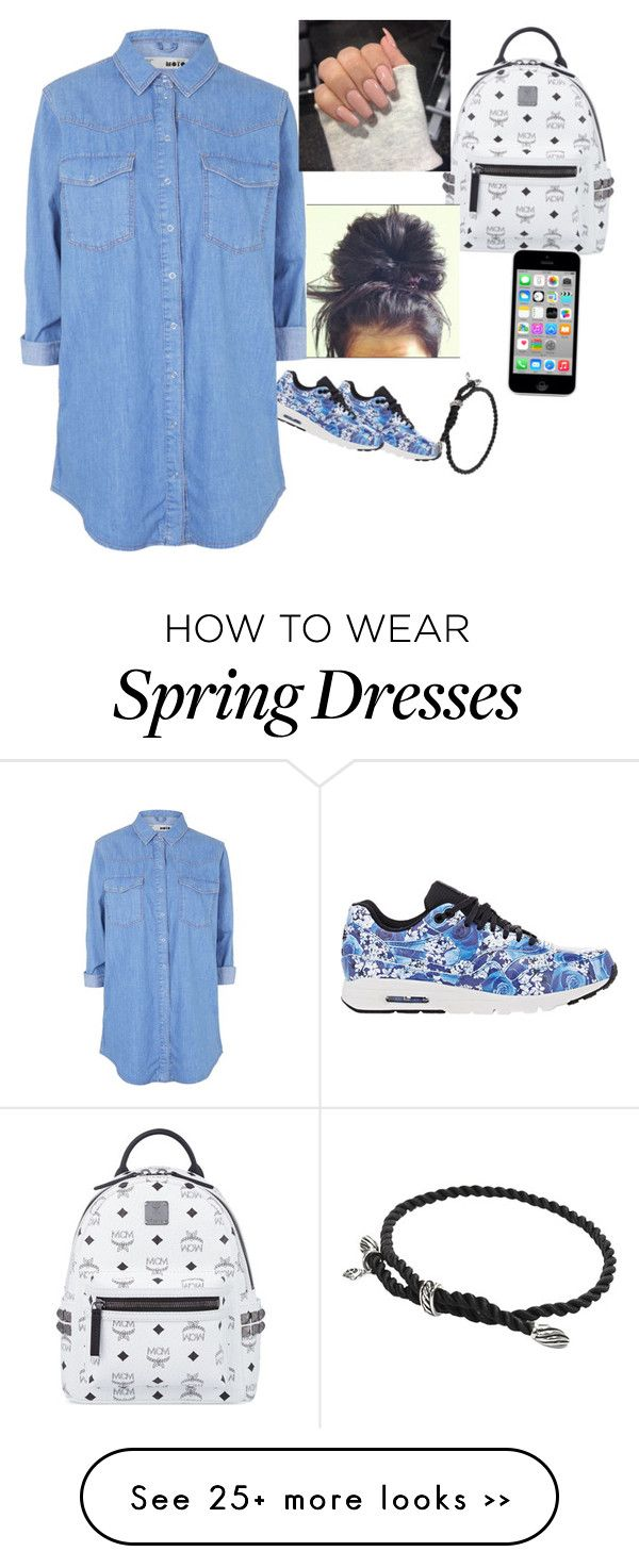 """Untitled #78"" by baby-crooksanford on Polyvore featuring NIKE, MCM, Topshop and David Yurman"