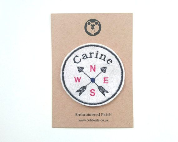 Custom patch with Camp Kate branding and logo can be used for favor bags, pillows, etc
