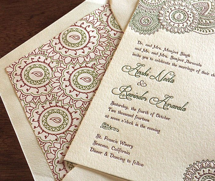 9 best Classic Indian Wedding Invitations images – Classic Indian Wedding Cards