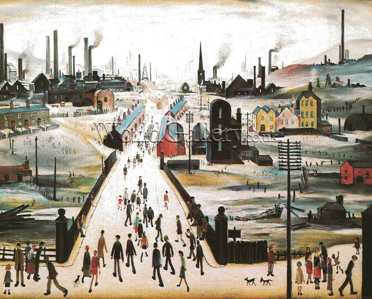 """The Canal Bridge"", by L.S. Lowry, 1949"