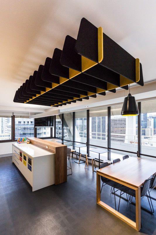 Quietspace Lattice Trapezium acoustic baffle - Cromwell Building. #Acoustics…