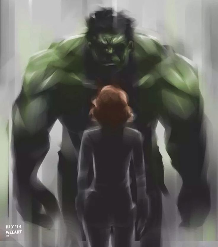 weearts:  Hulk and Black Widow sketch. Another inspired piece from Age of Ultron. The scene where Black Widow touches Hulks hand, presumably to calm him down or to comfort him, short as it was, really held a lot of depth. For all the action and big cgi scenes, even humor, there's still heart. Cheers to markruffalo, Joss, Scarlett and the rest of the crew. Can't wait to see more!