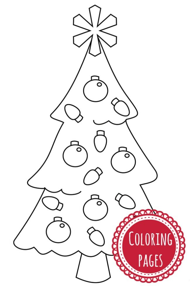 easy coloring pages christmas - photo#7
