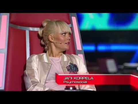 Michael Monroe goes crazy because Slipknot song in The Voice of Finland