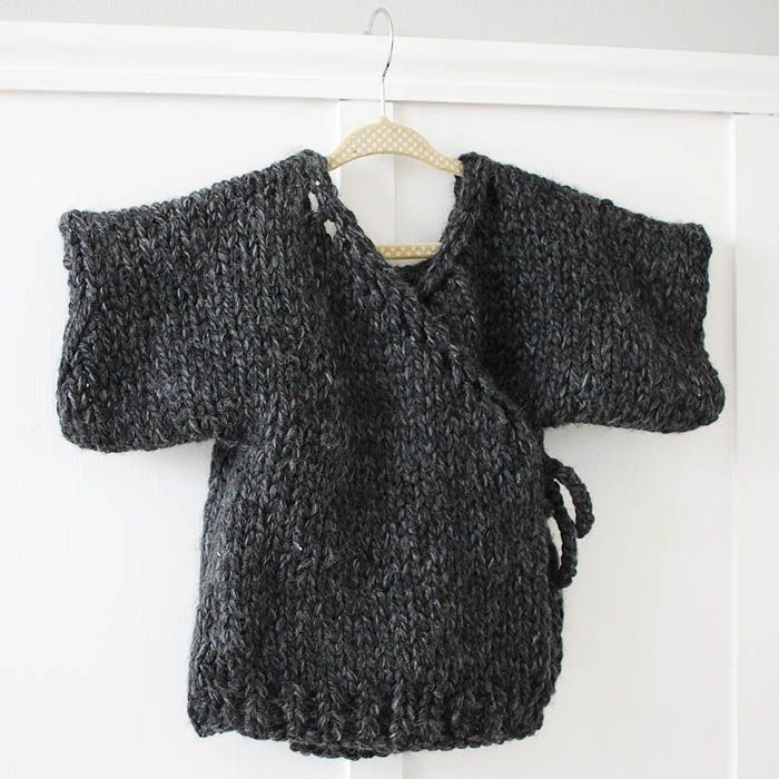 Knitting Sweater For Beginners : Thick and quick toddler kimono sweater beginner knitting