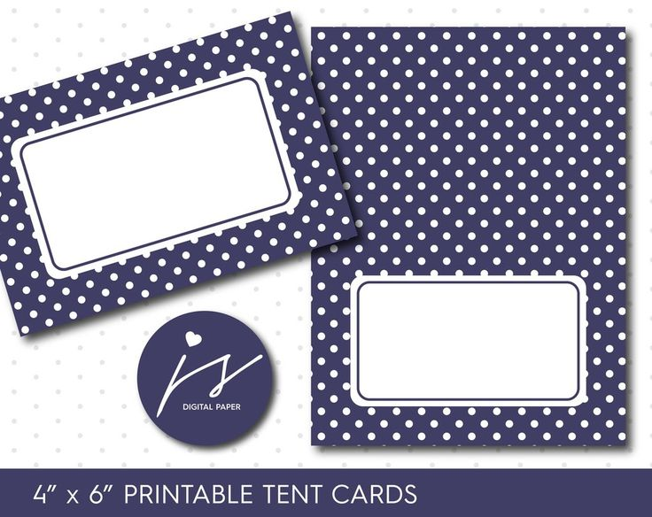 Purple printable party food tent cards with polka dots, TC-103