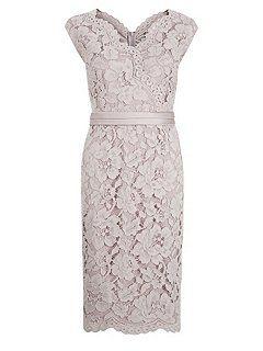 Opulent Lace Cross Front Dress