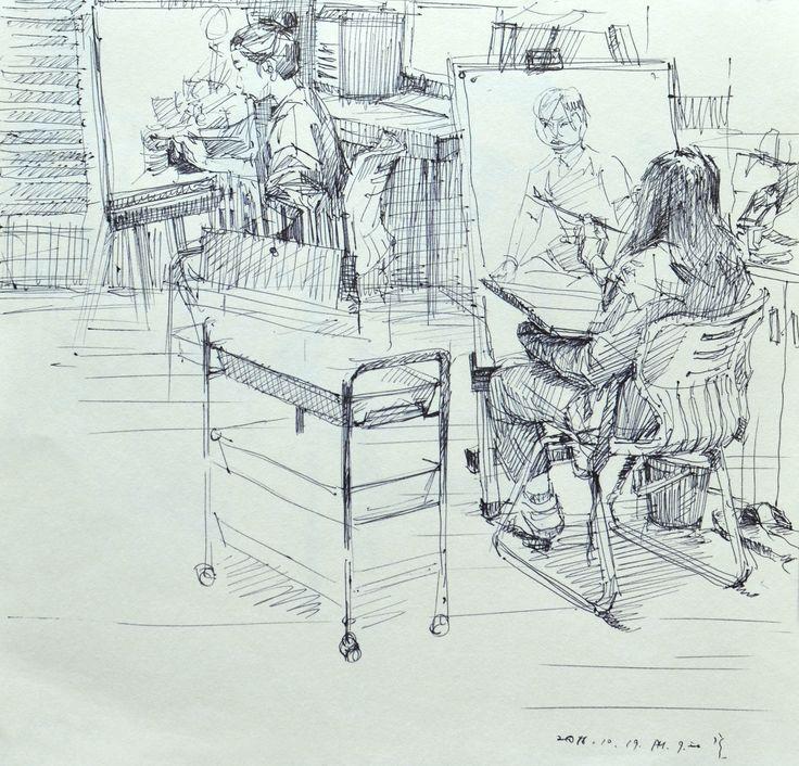 drawing - artist Hoehwarang(회화랑), South Korea #pencil #pencildrawing #pen #pendrawing #소묘 #인체소묘 #인물화 #인체 #회화랑 #회화랑미술학원 #강남입시미술 #회화 #미술 #academy #drawing #볼펜 #볼펜드로잉 #펜 #펜드로잉#Hoehwarang