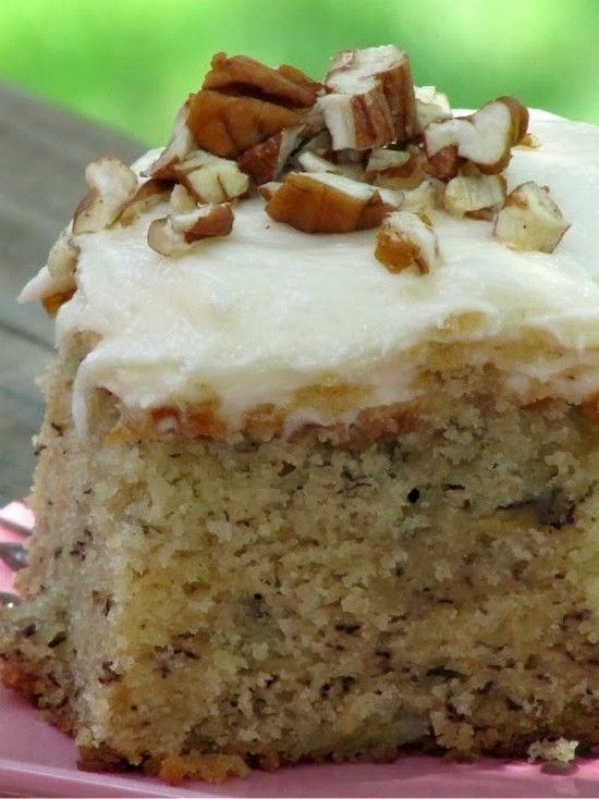 Best Ever Banana Cake with Cream Cheese Frosting