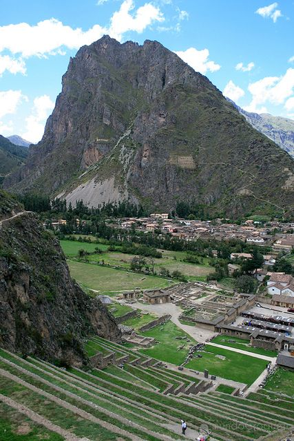 Ollantaytambo, Peru The Incas built it as a fort that included a temple, agricultural terraces, and an urban area. There are two distinct sectors: Araqama Ayllu, the religious and worship zone, and Qosqo Ayllu, the residential area. Ollantaytambo was an important administrative center with probable military functions if one considers the walls and towers. There are also traces of ancient roads and aqueducts.