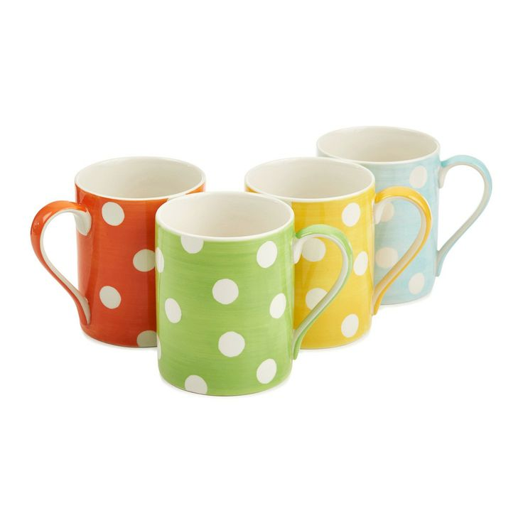 Spotty cup $6.95 available at Bed Bath and Table #cutemugs #perfectchristmasidea #kriskringle