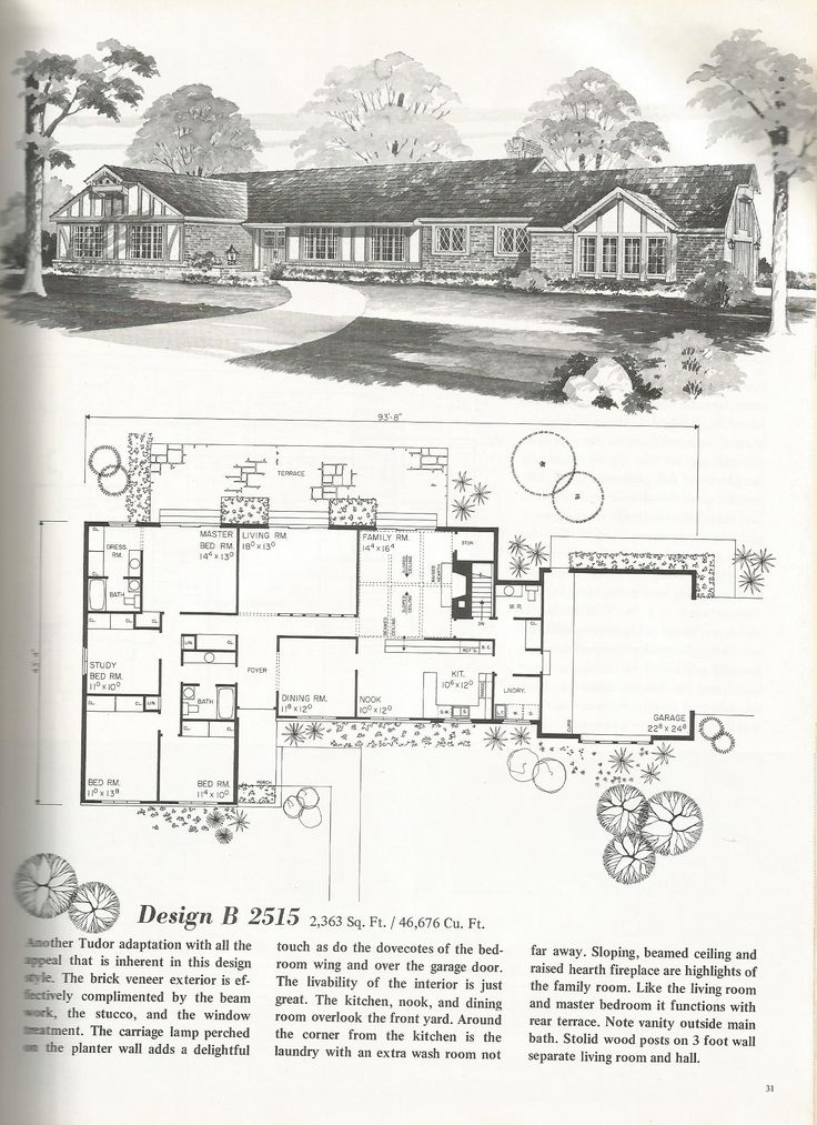 Vintage ranch house floor plans for Vintage floor plans