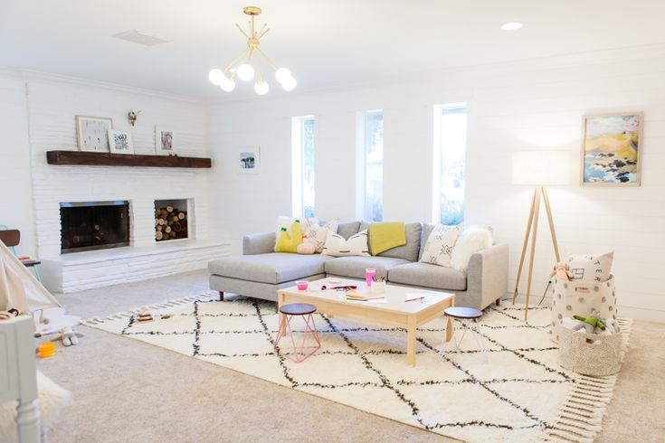 Playroom inspiration with Rugs USA's Marrakesh Shag!
