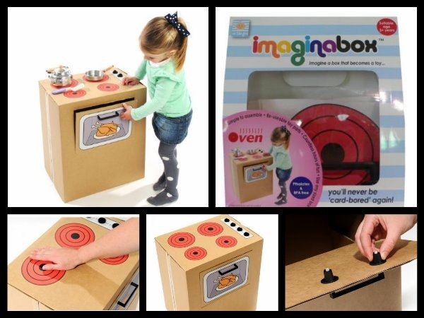 $19.95  Get more mileage out of empty cardboard boxes with Imaginabox®. /      Imaginabox® Oven – the simple, but practical kit that turns any cardboard box into an oven...hot hot hot!