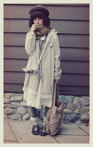 Boyish Mori Girl by h i u . y u, via Flickr