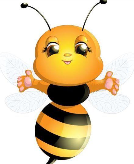 lovely cartoon bee set vectors 10