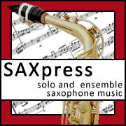 SAXpress is your source for solo and ensemble saxophone sheet music. Download or mail order saxophone sheet music from SAXpress.com.