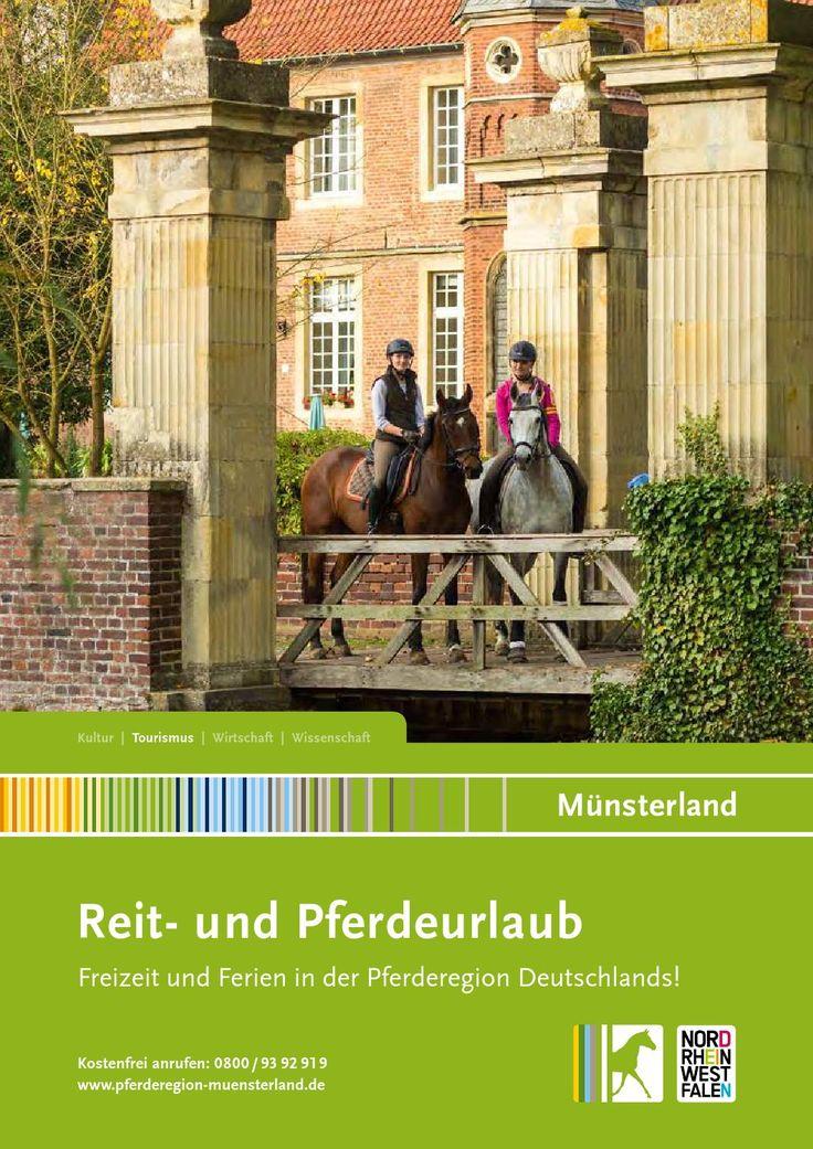 Reiturlaub im Münsterland 2016 Das Münsterland gehört zu den beliebtesten Reitregionen in Deutschland. Für Pferd und Reiter stehen über 1000 km Reitrouten zur Verfügung. Zahlreiche Reiterhöfe, hochklassige Reitschulen und viele Reiseangebote erwarten dich im Katalog Reit- und Pferdeurlaub Münsterland 2016