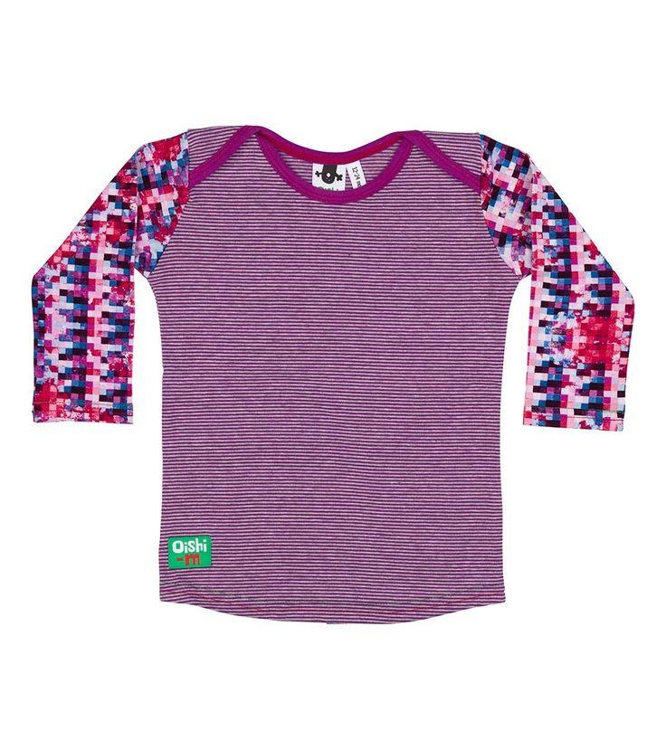 Princess Pixel L/S T Shirt, Oishi-m Clothing for kids, Winter 2016, www.oishi-m.com