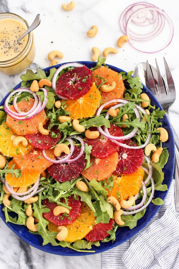 Citrus Salad with Orange Poppy Seed Dressing from afarmgirlsdabbles.com @farmgirlsdabble