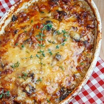 Pancetta and Porcini Potato Gratin