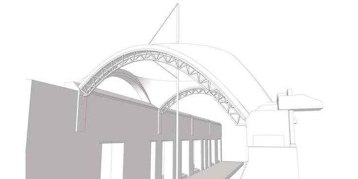 Vaulted Arcade, Aga Khan University, Karachi, Pakistan || Ochsendorf DeJong & Block LLC