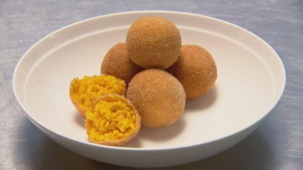 Marco Pierre White's arancini balls.