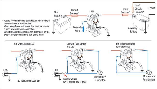 basic sbi install wiring diagrams redarc electronics 97 Dodge Ram 1500 Wiring Diagram