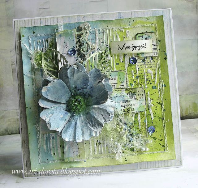 Dorota_mk, Card with flower
