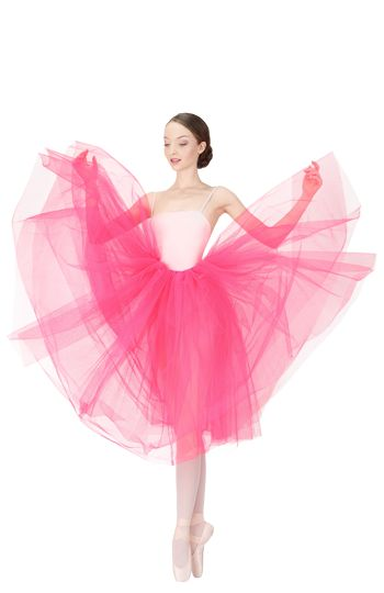 Long tulle skirt Pink fruit by Repetto - Collection fall-winter 2015
