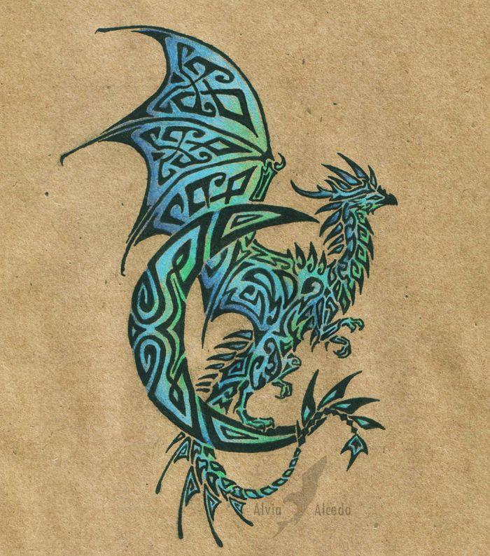 dragon tattoos | Lunar dragon tattoo by AlviaAlcedo on deviantART