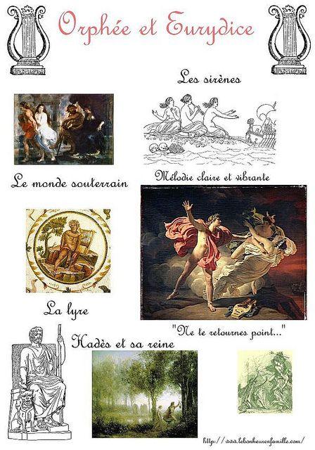 Un nouveau mythe grec, Orphée et Eurydice…
