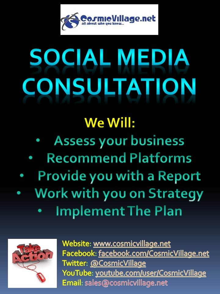 Social Media Consultation - Spending time with you and your business to determine where you currently are with Social Media, What platforms would be best suited for your business and advice on which to set up and manage. Cost: $330 (including GST). See More: http://bit.ly/wKAGIw