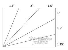 """Side Sunburst Card Measurements for size A2 card (4.25"""" x 5.5"""")..... this 3.75"""" x 5"""" diagram leaves a 1/4"""" border on all sides of the base card showing"""