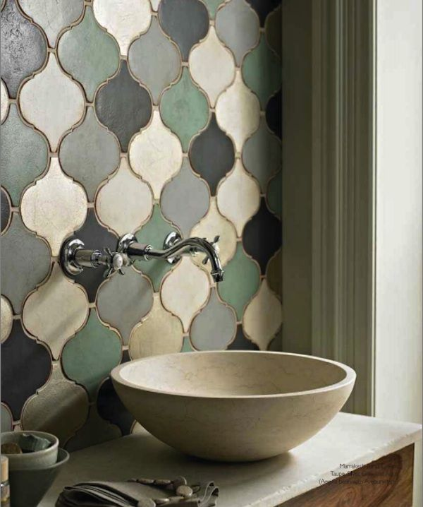 ...again mendetc.:)  Great backsplash and fun way to add a little vintage to your kitchen or bath:)