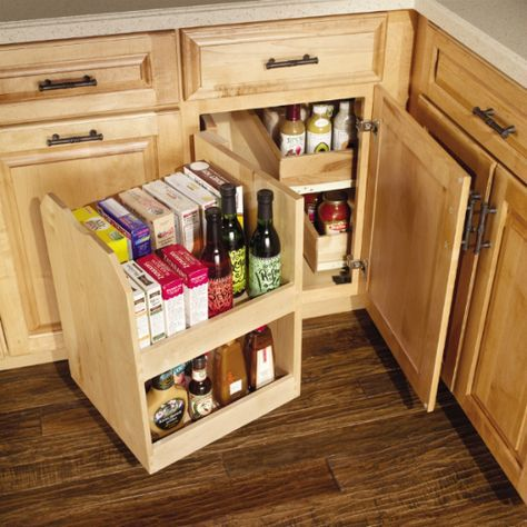 Base Blind Corner with Swing Out - to get max use out of that blind corner kitchen cabinet!