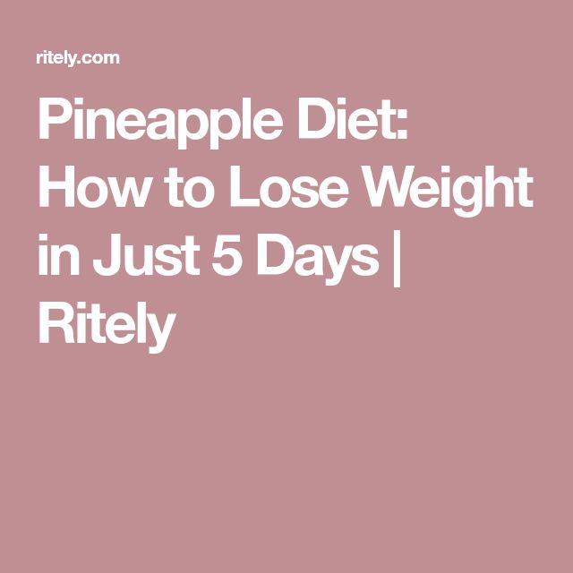 Pineapple Diet: How to Lose Weight in Just 5 Days | Ritely