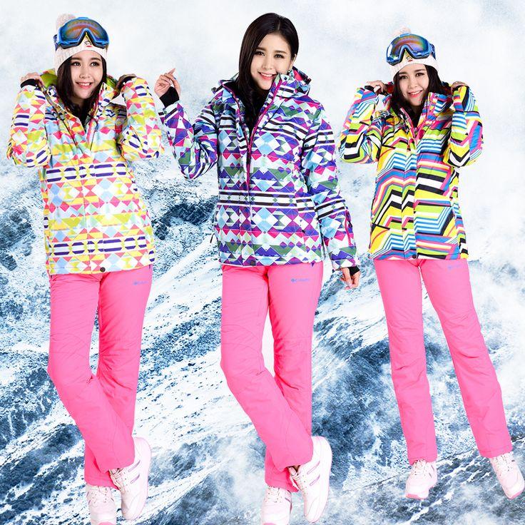 Winter Ski Sets Jackets Women Ski Jackets  Pants Snowboard Ski Suit Jacket Waterproof Breathable Wind Women China Shop Online