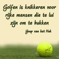 Grappige spreuk over golfen