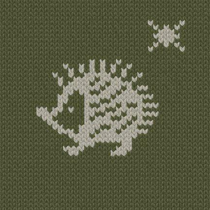 セーターの編み図の参考に☆彡アニマル柄・ハリネズミ                                                                                                                                                     もっと見る
