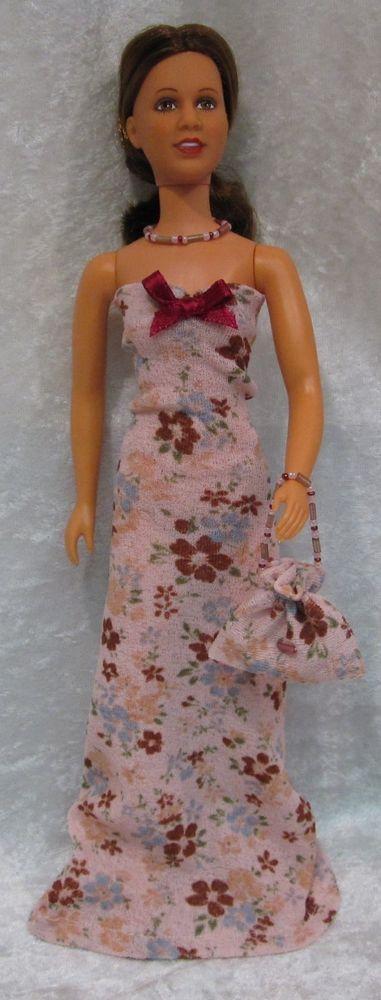 PRINCESS LEIA Star Wars Doll Clothes #01 Dress, Purse & Beaded Necklace Set #HandmadebyESCHdesigns