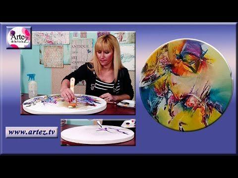 Cuadro abstracto con espátula | Nora Pareja en Artez TV - YouTube